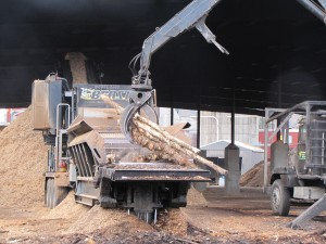 Material is sourced primarily within a 50-mile radius of the mill. Once processed into pellets, Geneva Wood Fuels packages them and ships them to customers throughout New England.