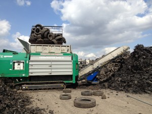 South Dakota-based Standing Rock Sanitation Service's tire-shredding abilities drew the attention of a Florida waste energy plant, for which Standing Rock is shredding tires, railroad ties and wood waste.