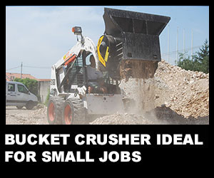 Bucket crusher ideal for small jobs