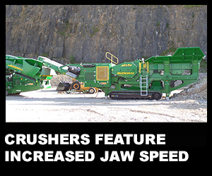 Crushers feature increased jaw speed