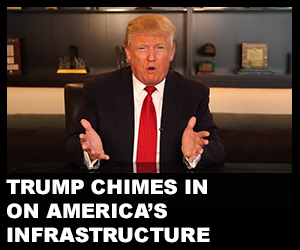 Trump chimes in on America's infrastructure
