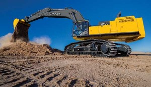 John Deere's 870G LC production-class excavator features a Tier 4 Final diesel engine. Photo courtesy of John Deere.
