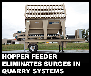 Hopper feeder eliminates surges in quarry systems