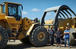 Amswede Inc. Volvo wheel loaders. Photo courtesy of Volvo Construction Equipment.