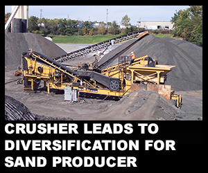 Crusher leads to diversification for sand producer