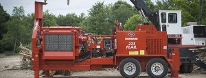 The 223 Flail is efficient and robust for in-woods chipping applications and it is easy to transport, Morbark says. Photo courtesy of Morbark.