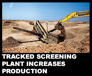 Tracked screening plant increases production