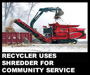 Recycler uses shredder for community service