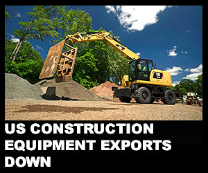 US construction equipment exports down