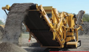 The 4043TR recirculating impact crusher