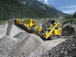 Keestrack R3 track mobile impact crusher