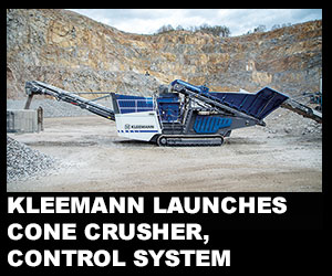 Kleemann launches cone crusher, crusher control system