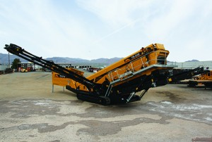 IRock releases the TS 518 mobile screening plant at ConExpo-Con/Agg. Photo courtesy of IRock Crushers