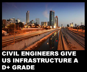 Civil engineers give US infrastructure a D+ grade