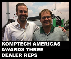 Komptech Americas awards three dealer reps
