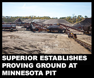Superior establishes proving ground at Minnesota pit