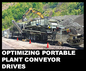 Optimizing portable plant conveyor drives