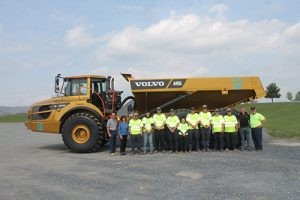 Nine high school students from across Pennsylvania participated in SkillsUSA's Pennsylvania State Heavy Equipment Competition. Photo courtesy of Volvo Construction Equipment.
