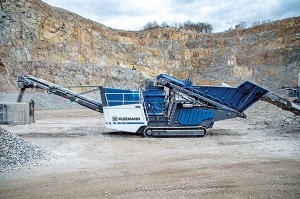 The MCO 11i PRO cone crusher achieves an output of up to 518 short tph, according to Kleemann.