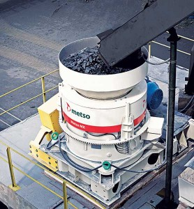 Metso's MX cone crusher is based on its Multi-Action crushing technology that combines the piston and rotating bowl into a single crusher.
