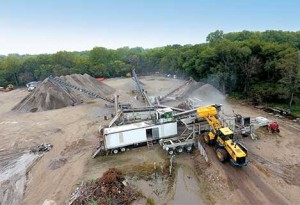 Roger Goree started this crushing/recycling operation at his company's Fremont, Nebraska, facility in 2011. The company purchased an entire crushing and screening plant from RoadBuilders Machinery and Supply Co. Inc. Photos courtesy of RoadBuilders Machinery & Supply Co.