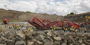 Terex Finlay hosted an international open day event in Edinburgh, Scotland, to showcase new equipment. Photo courtesy of Terex Finlay